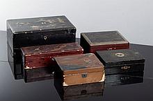 FIVE ORIENTALBOXES