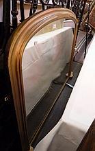 Twentieth century gilt framed overmantel mirror