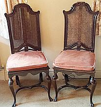Set of twelve reproduction dining chairs, of