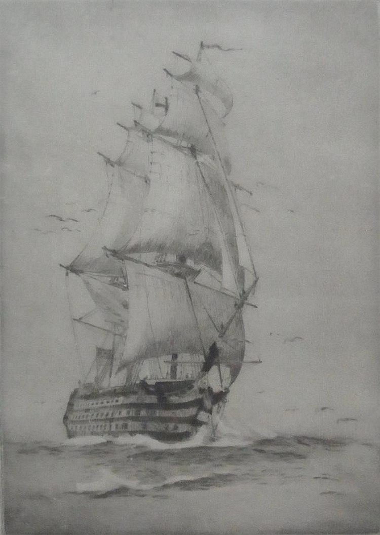 Etching After Rowland Langmaid HMS Victory (?)