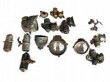 Assorted acetylene lighting parts / lamps