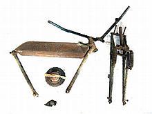 Druid forks, BSA frame parts & tank & Rudge clutch