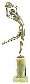 LORENZL, JOSEF. 1892-1950 Dansande kvinna med