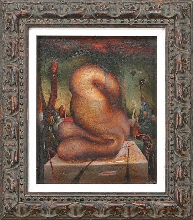GOETZ, HENRI, 1909-1989 Surrealistisk bild.