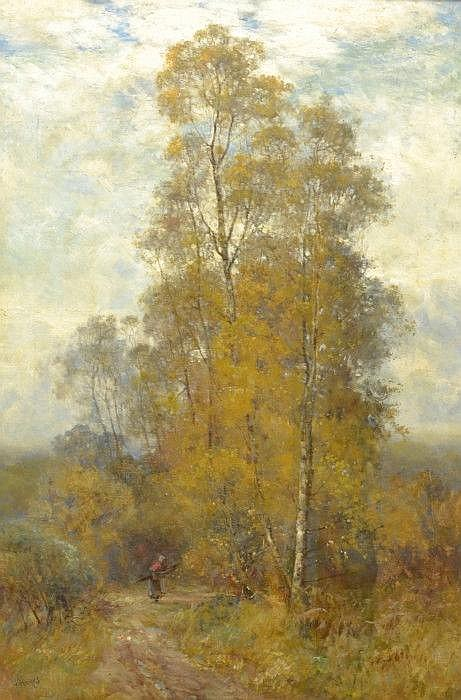 HAYES, CLAUDE, 1852-1922 'Falling leaves'.