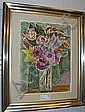 Agda Holst, olja, blomsterstilleben, 50X37., Agda Holst, Click for value