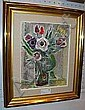 Agda Holst, olja, blomsterstilleben, 42X32., Agda Holst, Click for value