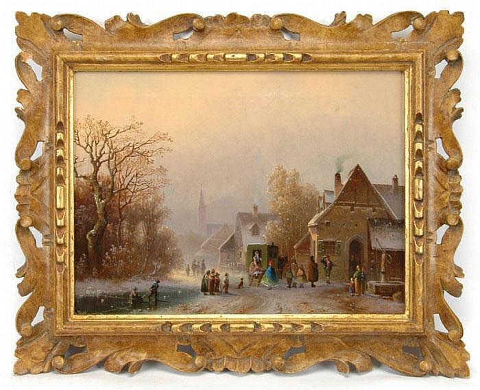 DOLL, ANTON, 1826-1887 By, vinter. Signerad