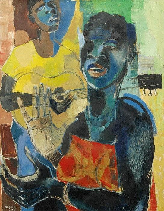 BOSMA, WIM, 1902-1985 'Negro song'. Signerad och