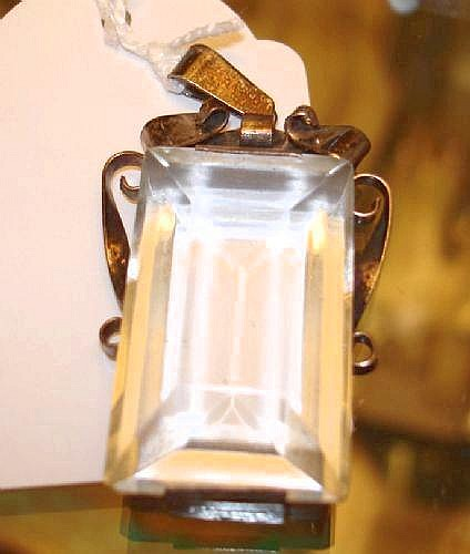 Hänge, Martin Elmblad, silver med bergkristall,