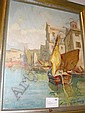 Knut Norman, olja, motiv från Venedig, 61X47., Knut Norman, Click for value