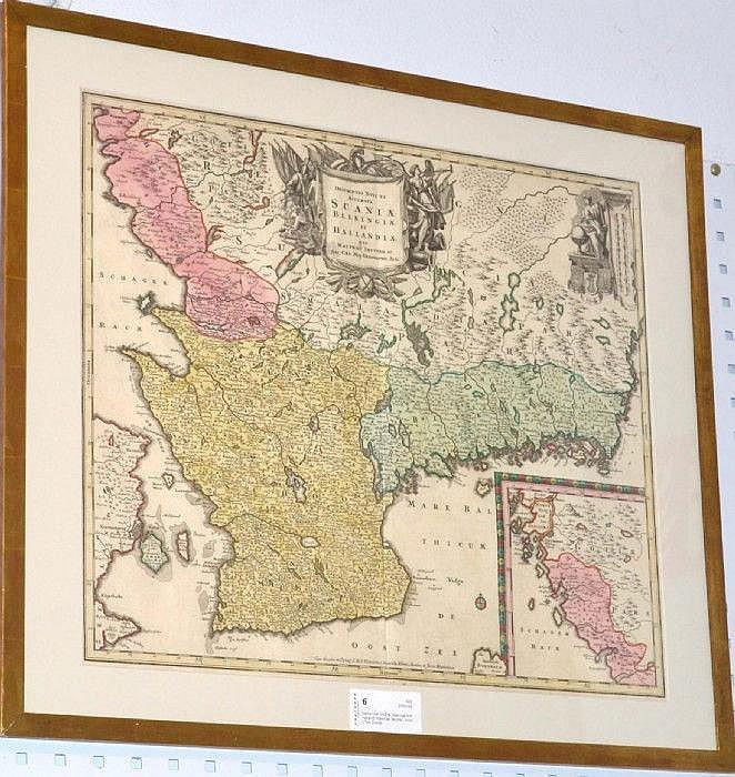 Karta Blekinge Skane.Karta Over Skane Blekinge Och Halland Matthias