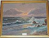 Franz Waldegg, olja, marin, 60X80 cm.