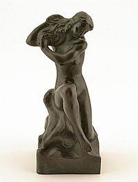 "AALTONEN, AARRE, 1889-1980. ""Sittande kvinna."