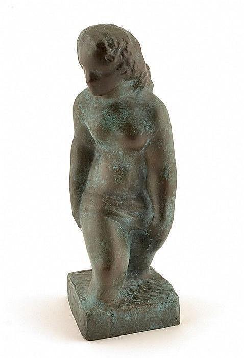 AALTONEN, WÄINÖ, 1894-1966. Aino - Vadande kvinna.