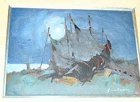 Arne Aspelin, olja, fiskenat.