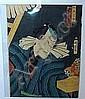 Träsnitt, Japan, Kunichika (1835-1900) 36X25 cm.,  Kunichika, Click for value