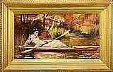 POTT, LASLETT, JOHN, 1837-1898 Flicka i kanot.