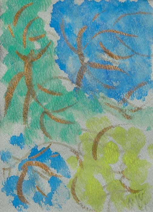 WALDEN, NELL, 1887-1975 Utan titel. Akvarell och