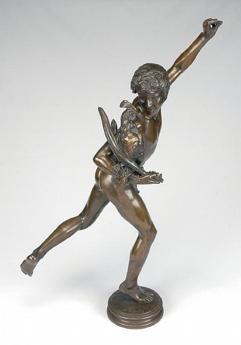 FALGUIERE, ALEXANDRE, 1831-1900 'Le vainqeur au