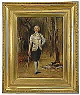 POTT, LASLETT, JOHN, 1837-1898 Inför duellen.