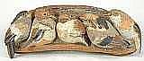 LUNDGREN, TYRA, 1897-1979 Relief med sex fåglar i
