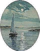 GARDELL-ERICSON, ANNA, 1853-1939 Segelbåt i