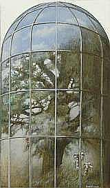 BÖCKMAN, BENGT, FÖDD 1926 Träd i glaskupol.