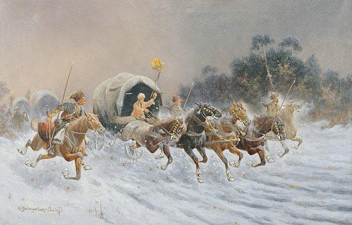 BAUMGARTNER-STOILOFF, ADOLF, 1850-1924 Tågande
