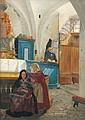 MONTAN, ANDERS, 1845-1917 Kyrkointeriör med, Anders Montan, Click for value