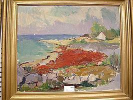 Arne Aspelin, olja, kustparti, 58X73.