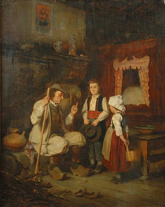 JACOMIN, ALFRED LOUIS VIGNY, 1842-1913 Interiör