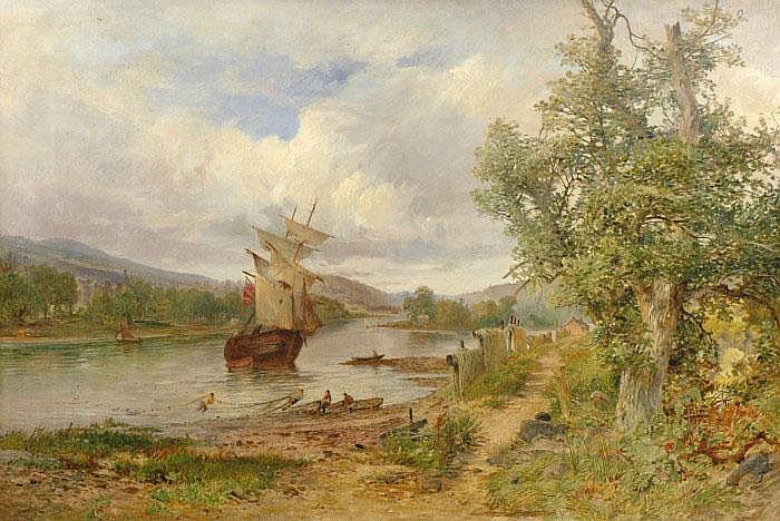 CRANSTOUN, JAMES, HALL, 1821-1907 Landskap med