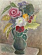 HOLST, AGDA, 1886-1976 Stilleben med blommor i, Agda Holst, Click for value