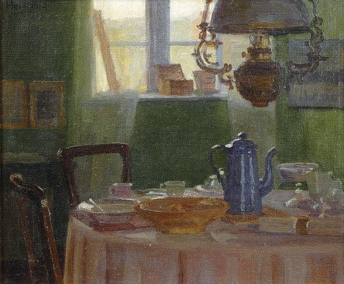 HEIN, EINAR, 1875-1931 Dukat frukostbord, motiv