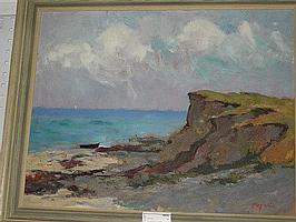 Arne Aspelin och Figge Holmgren, oljemålningar, 2