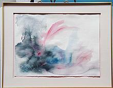 GUILLAND,   BRENDA (?)  (  American 20th C.  )pair of stain watercolors on paper,
