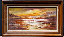 COX,   DORIS  (  American 20th C.  )(sunset on the beach)