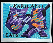 APPEL,  KAREL  ( Dutch 1923-2005  )(portfolio cover) from the Cat's suite,