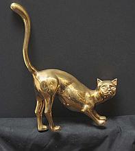 ARTIST UNKNOWN  ( 20th C.   )Art Deco Style brass house cat