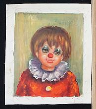 GYS  ( French 20th C.  )(Clowns, a pair)