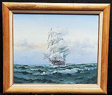 SOPHIA,  W (?)  ( 20th c.  )(Clipper Ship At Sea)