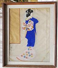 JAPANESE WATERCOLOR  (  20th c.   )