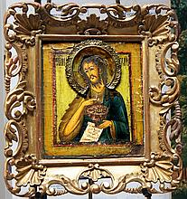ARTIST UNKNOWN  ( c. 1700-18th c.  )Eastern European Icon () with label on back