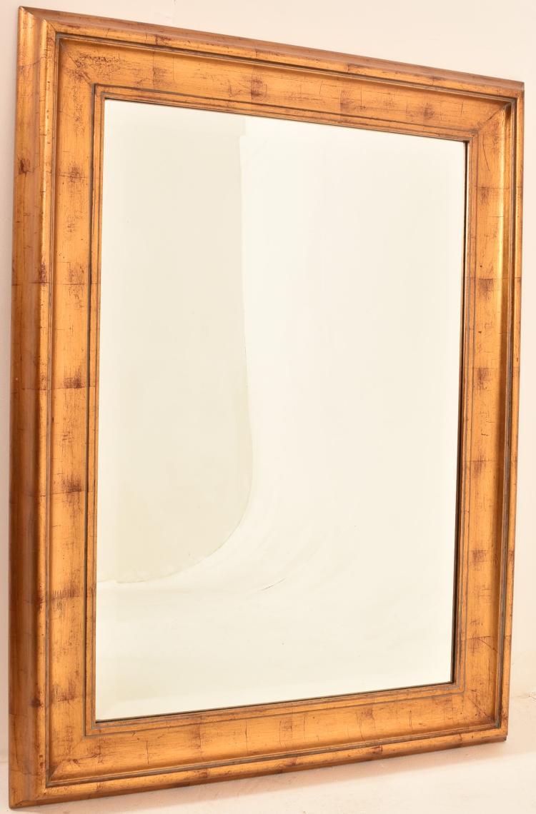 A large contemporary gilt framed mirror h 115 w 84cm for Large contemporary mirrors
