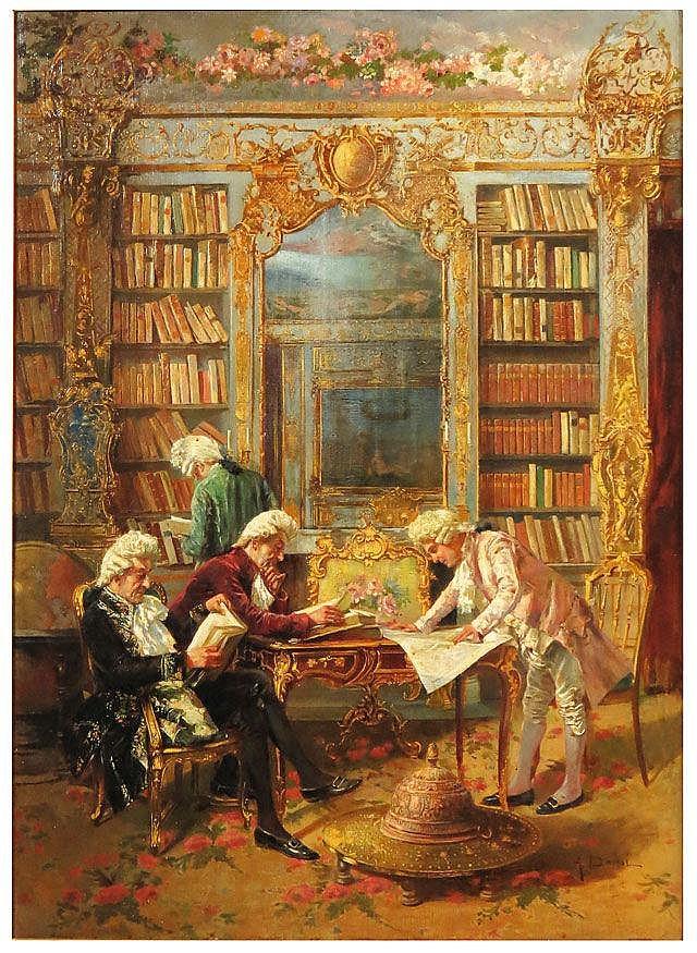 AUGUSTO DAINI (Italian, 1860-1920) library