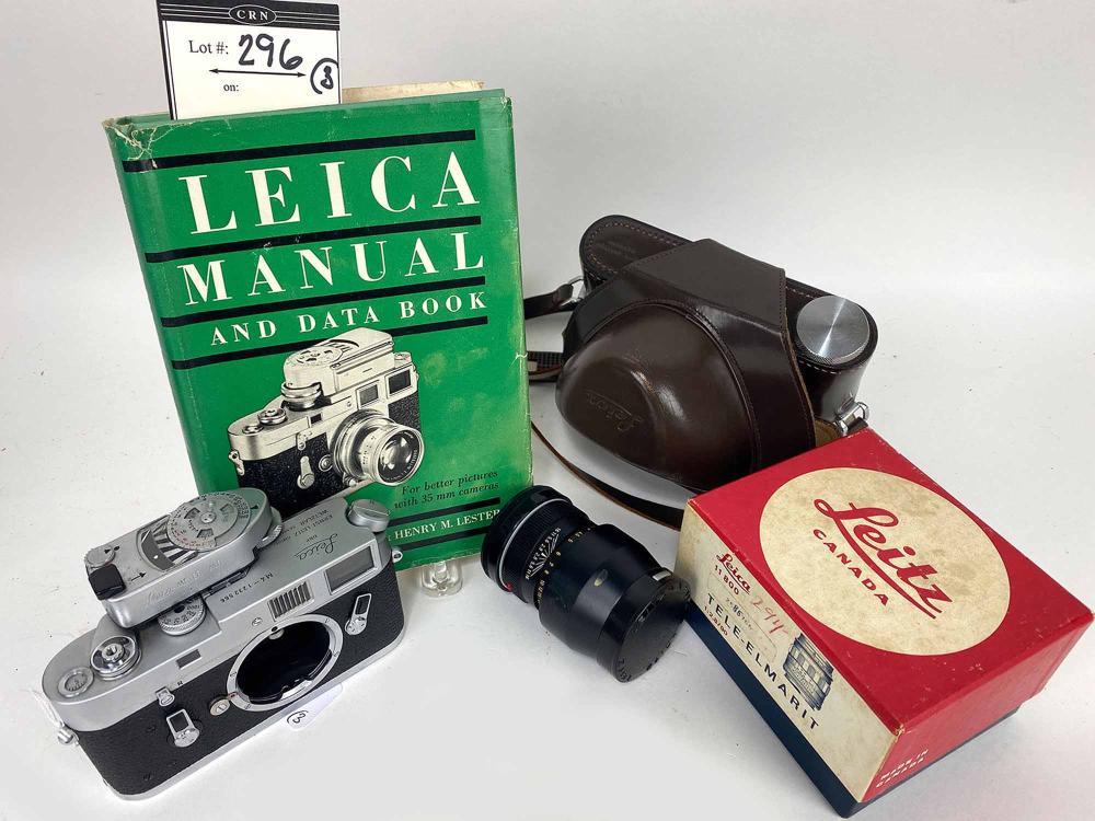 (on 3) VINTAGE LEICA CAMERA M4 RANGE FINDER/MR METER