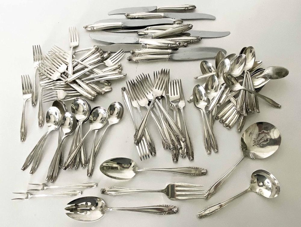 STERLING SILVER FLATWARE SERVICE FOR (12), WALLACE
