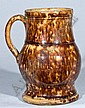 JOHN BELL, Glazed Redware Ale Mug, Waynesboro, P