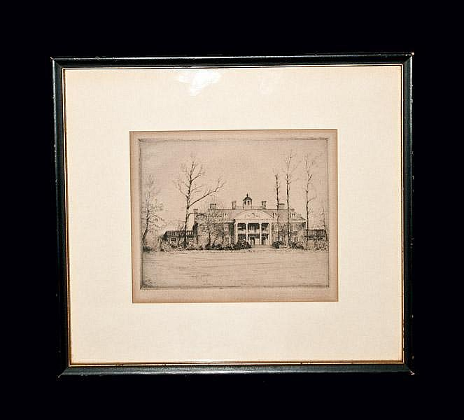 Don Swann Etching, Greenwood Mansion, Towson, MD